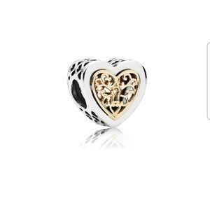 PANDORA (Rare) Locked Hearts Charm
